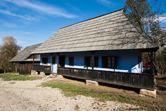 Wooden house. Romanian woodenhouse from the Northern part of the country, Maramures stock photo