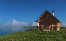 The wooden house Stock Image