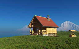The wooden house Royalty Free Stock Photography