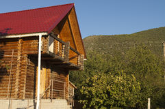 Wooden house. Royalty Free Stock Photo