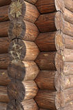 Wooden house. Detail of wooden house made of logs Stock Images
