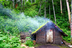 Wooden cabins Royalty Free Stock Photo