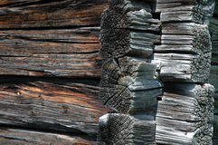 Wooden House. Detail of an old wooden house Stock Images