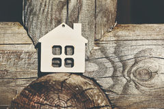Wooden house as symbol Royalty Free Stock Images