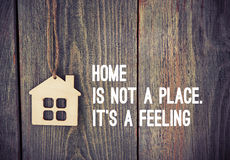 Wooden house as symbol quote Royalty Free Stock Image
