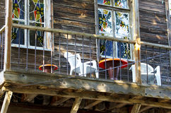 Wooden house balcony Stock Photography