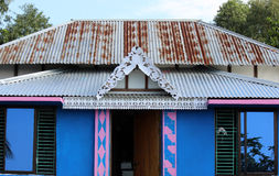 Wooden House In Bangladesh. An Artistic House Made Of Wood And Tin Stock  Image