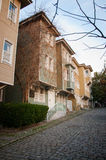 Wooden house. Beautiful wooden house in Istanbul Royalty Free Stock Photo