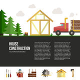 Wooden House Building Royalty Free Stock Images