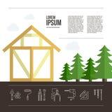 Wooden House Building Stock Photos