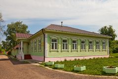 Wooden house (circa XIX c.)  in Dmitrov kremlin, Russia Stock Image