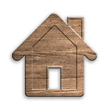 Wooden house. clipping path. Royalty Free Stock Images
