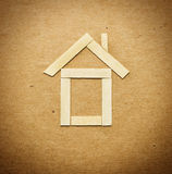 Wooden house concept Royalty Free Stock Image