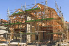 Wooden house construction, building in New Zealand Royalty Free Stock Photos