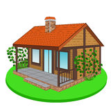 Wooden house, cottage Royalty Free Stock Photography