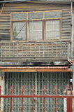 Wooden house in countryside of Asia. Old Wooden house with stained zinc roof in countryside of Asia Royalty Free Stock Photos