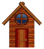 Wooden House. Cute New wooden house illustration Stock Photography