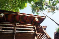 Wooden house design in Chiangmai Stock Photos