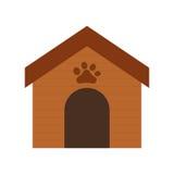 Wooden house dog paw print pet. Illustration eps 10 Stock Image