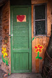 Wooden house entrance. Stock Image