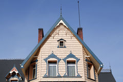 Wooden house exterior Royalty Free Stock Photo