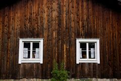 Wooden house facade Stock Photography