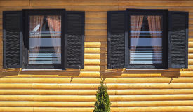 Wooden House Facade Stock Photos