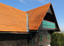 Wooden house. Farmhouses in Western Styria Austria Stock Images