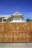 Wooden house fence Stock Photos