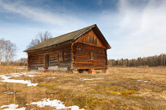 Wooden house in the forest Royalty Free Stock Images