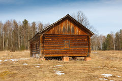 Wooden house in the forest Royalty Free Stock Photography