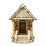 Wooden house front view Stock Images
