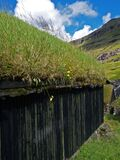 house with grass on the roof, Faroes Islands, Streymoy, Saksun