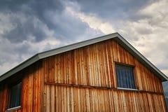 Wooden_house_grisons imagem de stock