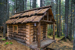 Wooden house hunter Royalty Free Stock Photo