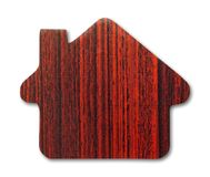 Wooden house icon. On white background Royalty Free Stock Photo
