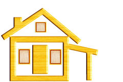 Wooden house icon design Royalty Free Stock Photography