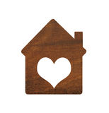 Wooden house icon isolated on white background Royalty Free Stock Photography