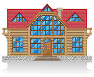 Wooden house  illustration Royalty Free Stock Photos