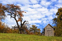 Wooden House In The Autumn Stock Photos