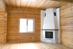 Wooden house interior Stock Images