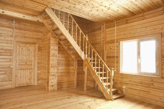 Wooden house interior Royalty Free Stock Photos