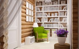 Wooden house interior Stock Photography