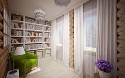 Wooden house interior Royalty Free Stock Images