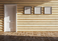 Wooden house interior Royalty Free Stock Photos