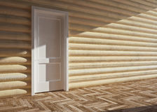 Wooden house interior Stock Image