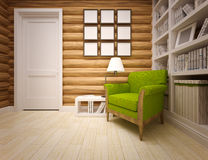Wooden house interior Royalty Free Stock Photography