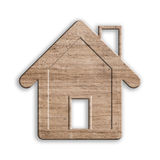 Wooden house isolated, with clipping path. Royalty Free Stock Photos