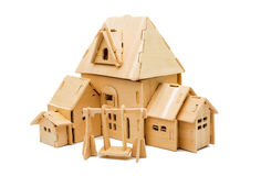 Wooden house isolated Royalty Free Stock Images