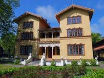 Wooden house in Jurmala. Stock Photo